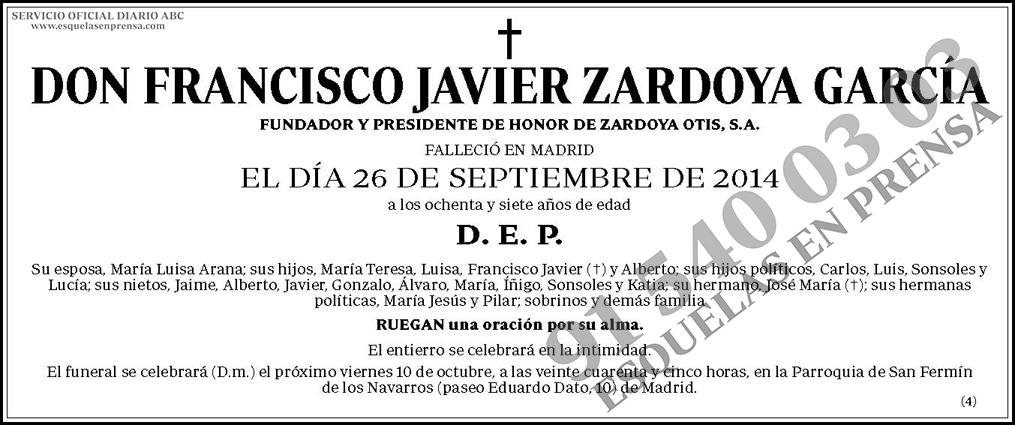 Francisco Javier Zardoya García
